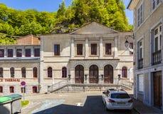 列斯Eaux-Bonnes,山温泉渡假胜地在法国比利牛斯 免版税库存照片