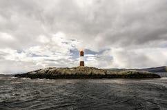 列斯Eclavireurs灯塔,小猎犬海峡,火地群岛,南阿根廷 免版税库存图片