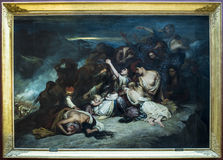 "列斯Femmes souliotes Ary斯海佛1795†""1858 天窗 库存图片"