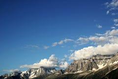 列斯Houches山 免版税图库摄影