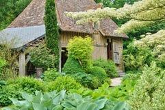 列斯Jardins du Pays d Auge在康布雷梅在Normandie 免版税库存照片