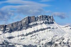 列斯Rochers des Fiz -法国阿尔卑斯 库存照片