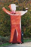 列斯Sarmentelles在博若莱红葡萄酒nouveau,法国到来的Beaujeu  免版税库存图片
