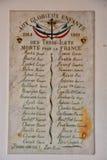 列斯trois Ilets;马提尼克岛,法国-威严31 2015年:战争memor 免版税库存图片