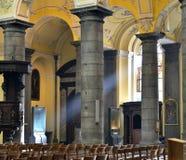 列日圣但尼牧师会主持的教堂  免版税库存照片