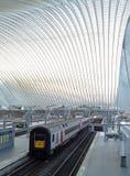 列日Guillemins,比利时的火车站 免版税库存照片