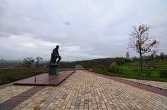 列昂尼德贝科夫的纪念碑 苏联乌克兰演员、编剧和电影导演 他的最著名的角色是WWII飞行员 库存照片