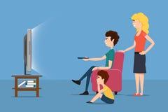 系列电视注意 传染媒介平的例证 向量例证