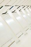列美妙的内部白色 免版税库存照片