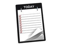 列表任务 免版税库存图片