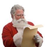 列表圣诞老人 库存照片