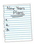 列表新的计划s向量年 免版税图库摄影