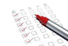 列表标记轮询 免版税库存照片