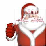 列表淘气好的s圣诞老人 免版税库存图片
