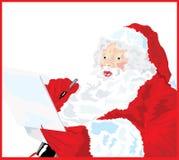 列表淘气好的s圣诞老人 免版税库存照片