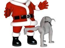 列表淘气s圣诞老人峰值 免版税库存照片