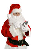 列表现代圣诞老人 库存照片