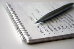 列表 免版税库存图片