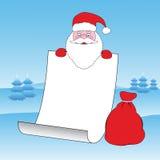 列表s圣诞老人 免版税库存照片