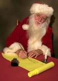 列表s圣诞老人 免版税库存图片
