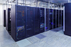 系列计算机主机数据中心服务器室 免版税图库摄影