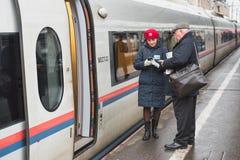 列车长俄罗斯 免版税库存照片