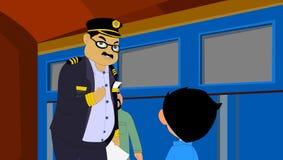列车长 免版税库存照片