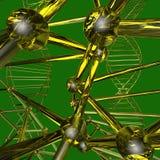 列阵格子原子的样式 免版税库存图片
