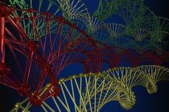 列阵格子原子的样式 图库摄影