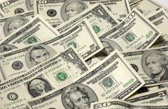 列阵货币纸张美国 免版税库存图片