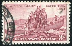 刘易斯和克拉克远征着陆  免版税库存图片
