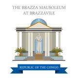 刚果共和国传染媒介的Brazza陵墓我 库存例证