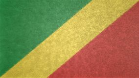 刚果共和国的旗子的原始的3D图象 免版税库存图片