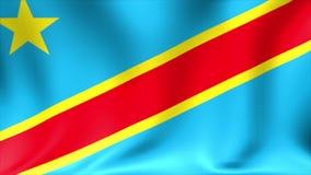 刚果民主标志共和国 背景无缝的使成环的动画 4K高定义录影 向量例证