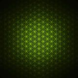创世纪样式-生活绿色花  免版税库存照片