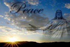 创作和平的耶稣 免版税库存图片
