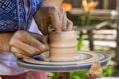 创作陶瓷工瓦器 库存照片