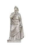 创建者francesco人道主义petrarca雕象 库存图片