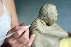 创建雕塑 免版税库存图片
