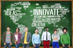 创新启发创造性想法进展创新Concep 免版税库存照片