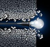 创新想法解答 免版税图库摄影