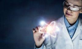 创新技术在科学和医学 混合画法 图库摄影