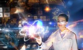创新技术在科学和医学 混合画法 库存照片