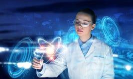 创新技术在科学和医学 混合画法 库存图片