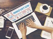 创新技术是创造性的未来派概念 库存照片
