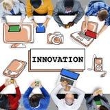 创新技术是创造性的未来派概念 免版税图库摄影