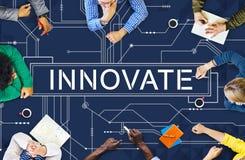 创新技术电路板未来派概念 图库摄影