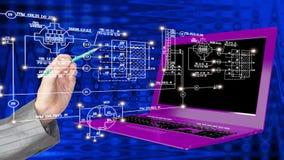 创新现代工程学计算机科技 库存照片