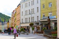 创造一种美好的都市风景的Promenada 库存照片