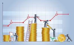 创造企业成长的队 免版税库存照片